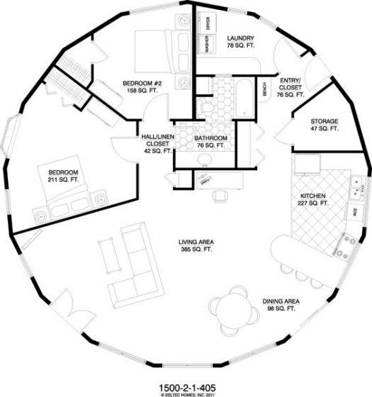 Plano casa circulo radial