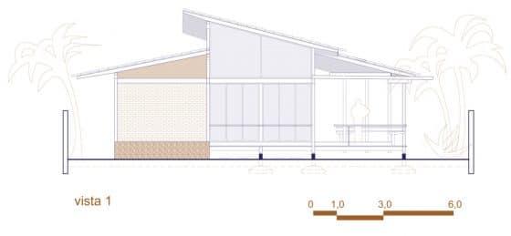 Plano de elevación casa campo 1