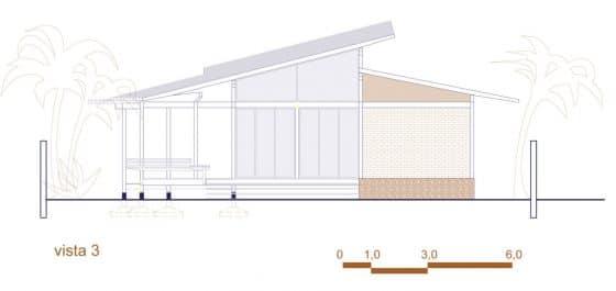 Plano de alzado 3 casa en la selva