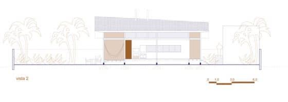 Plano de elevación 2 casa de campo