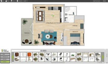 Room Sketcher hacer planos de casas en linea