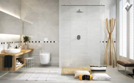 Decoración de cuarto de baño minimalista