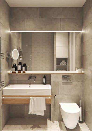 Paredes bloques concreto cuarto de baño