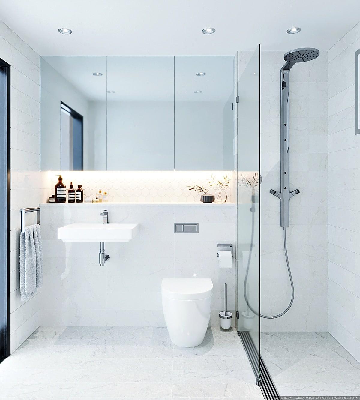 Houzz Small Bathroom Ideas Dise 241 O De Cuartos De Ba 241 O Minimalistas