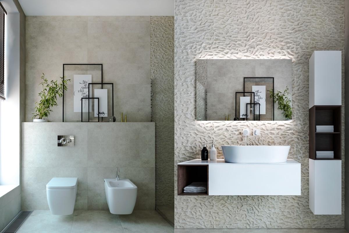 Diseño de cuartos de baño minimalistas
