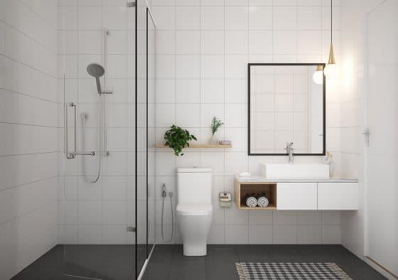 Simple diseño cuarto de baño minimalista