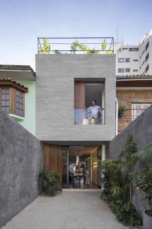 Planos de casa peque a angosto terreno - Piso pequeno moderno ...