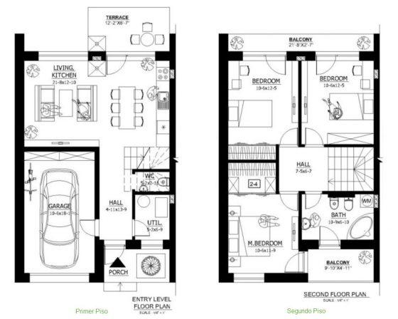 Plano de casa para construir terreno pequeño
