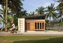Photo of Diseño de pequeña casa de campo construida con concreto, planos con posibilidades de ampliación