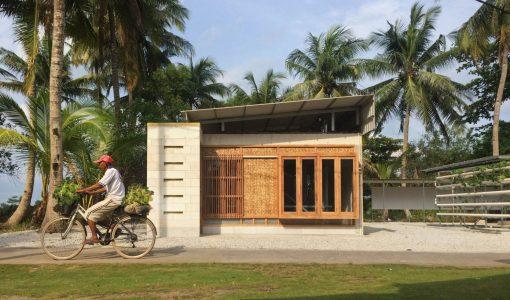 Vivienda rural de hormigón y madera