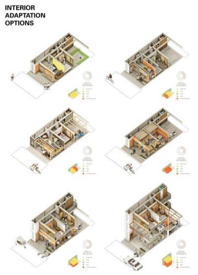 Planos de casas pequeñas adapta habitaciones