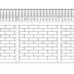 Plano de fachada casa de campo hormigón