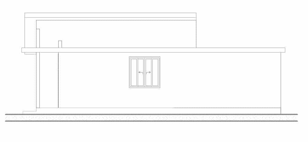 Plano fachada lateral 001