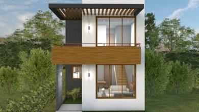 Photo of Plano de casa de dos pisos con medidas, ideal para terreno pequeño