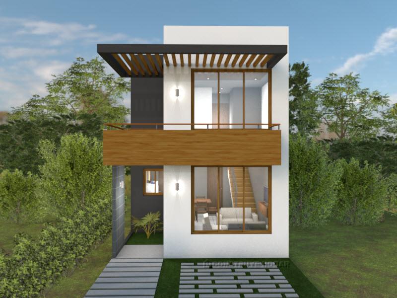 Planos de casa para terreno peque o con medidas for Casas con planos y fotos