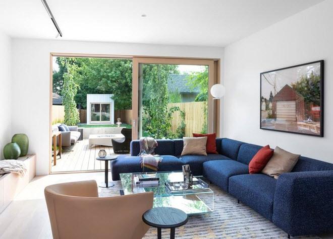 Diseño de living estilo minimalista
