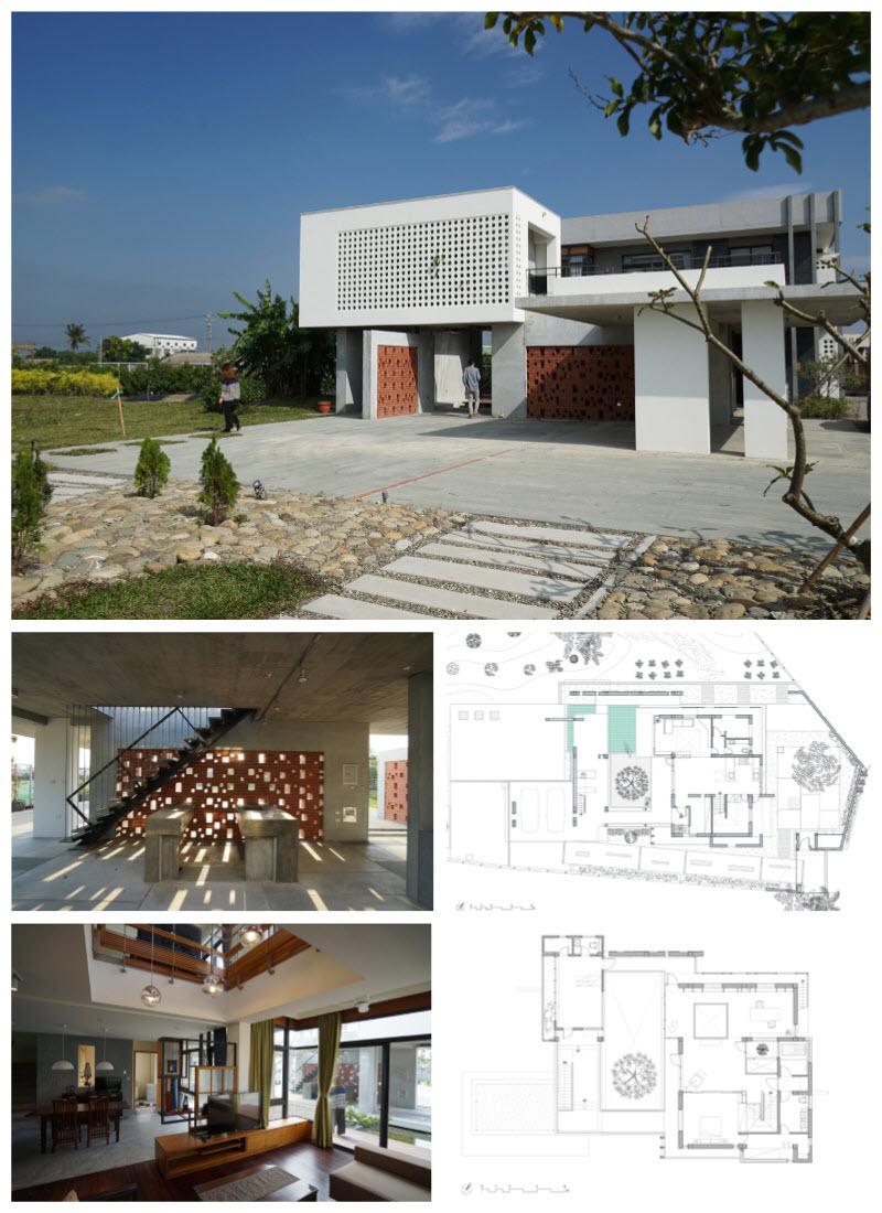 Diseño de casa dos pisos para terrenos grandes