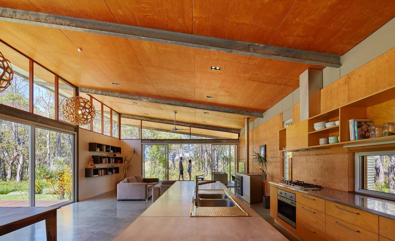 Diseño interior casa rural moderna