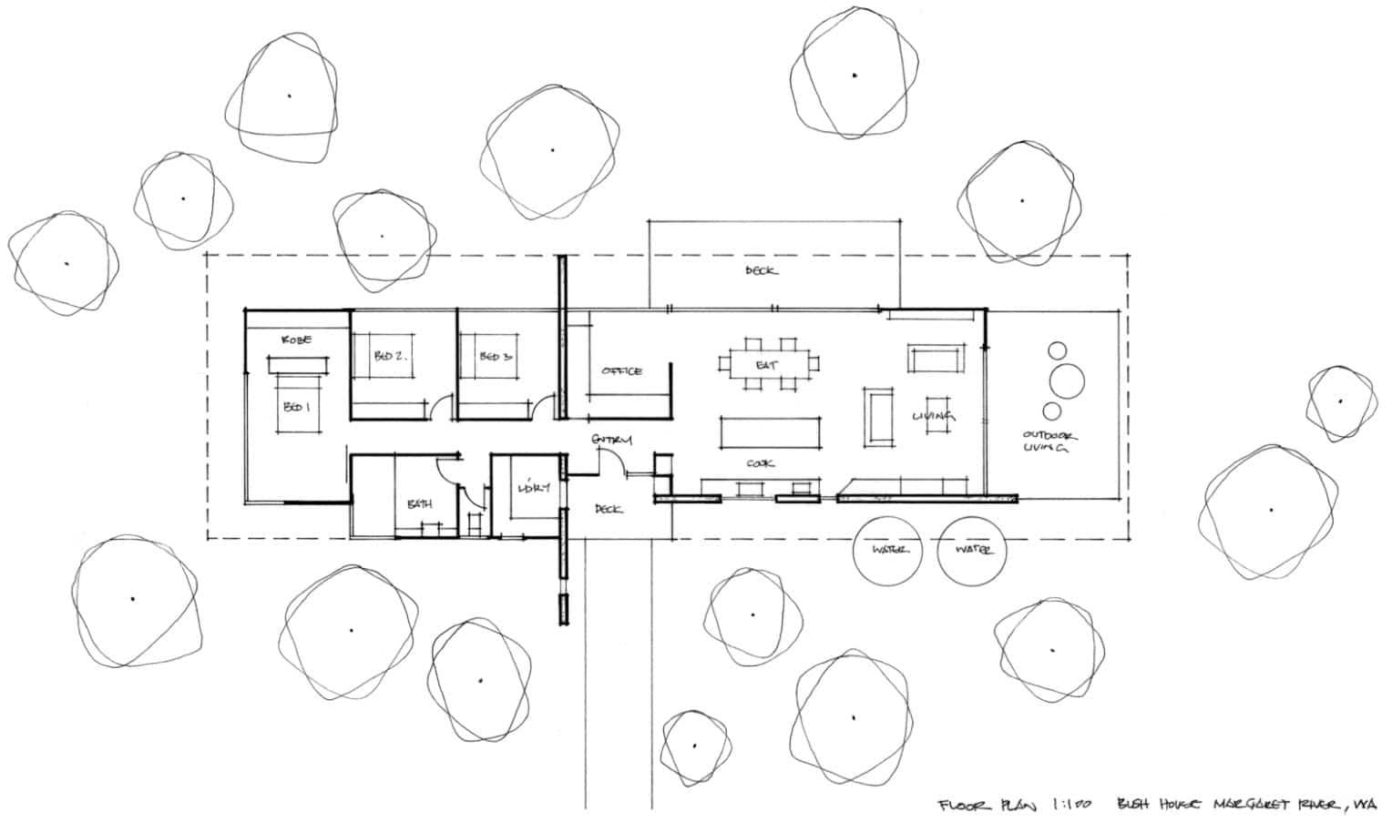 Plano de casa rural 160 metros cuadrados