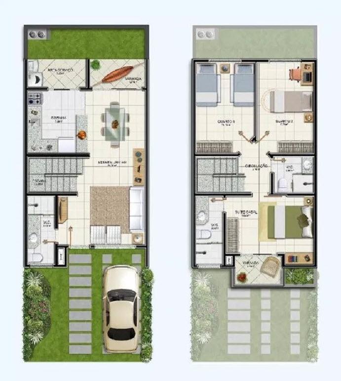 Diseño casa en terreno pequeño