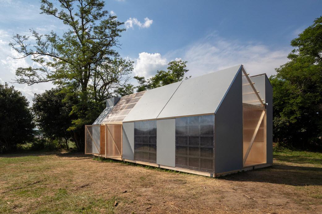 Diseño de casa madera por módulos