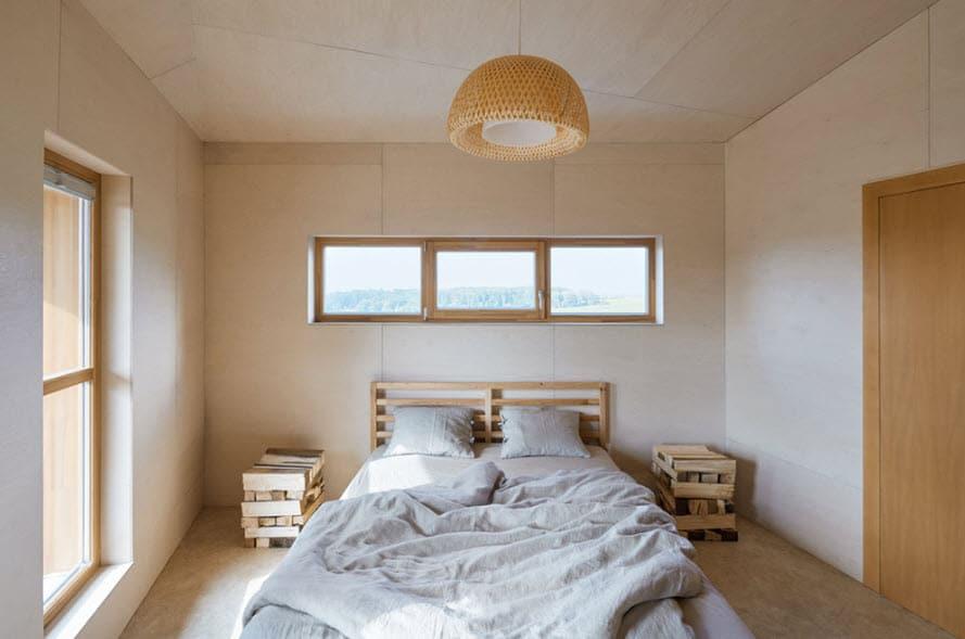 Diseño de dormitorio estilo escandinavo