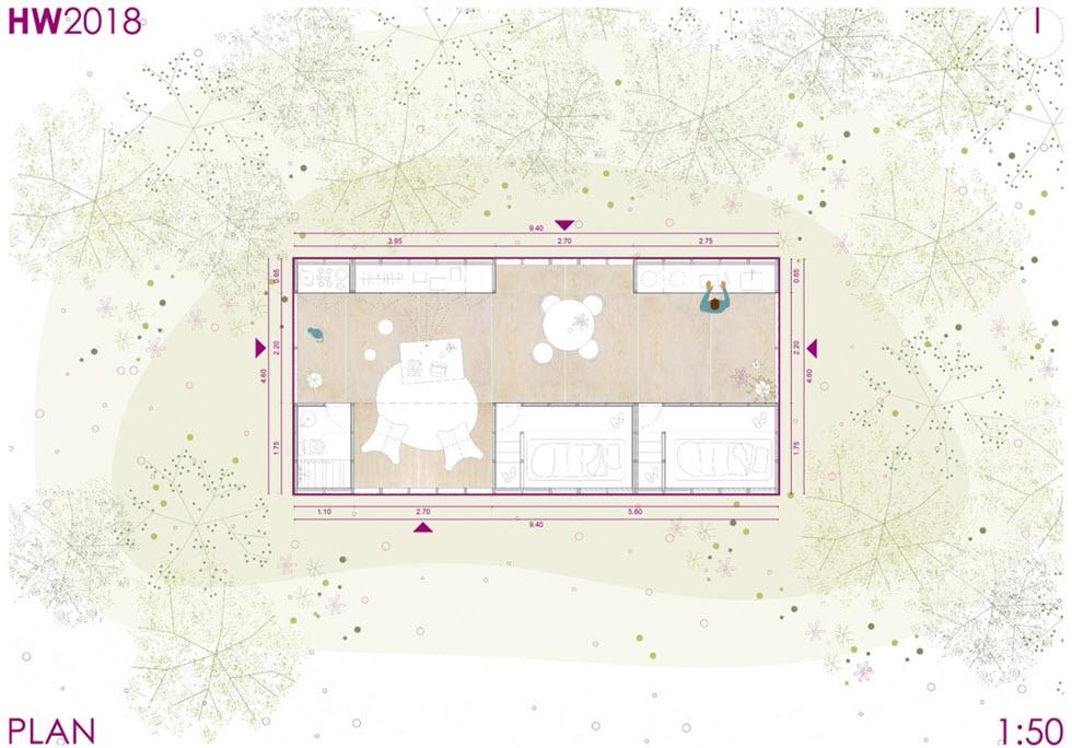 plano cabaña prefabricada