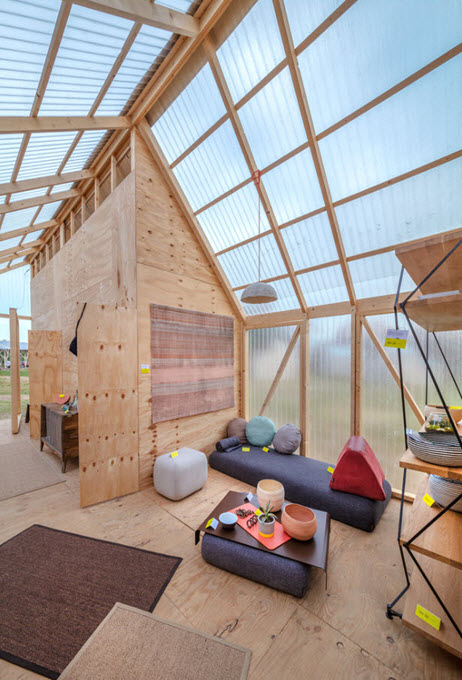 Diseño de sala casa modular
