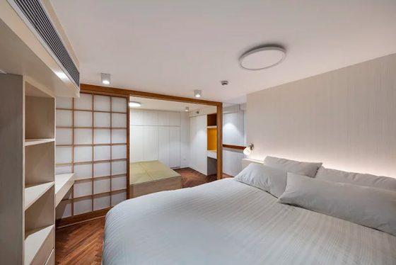 Diseño de dormitorio estilo oriental