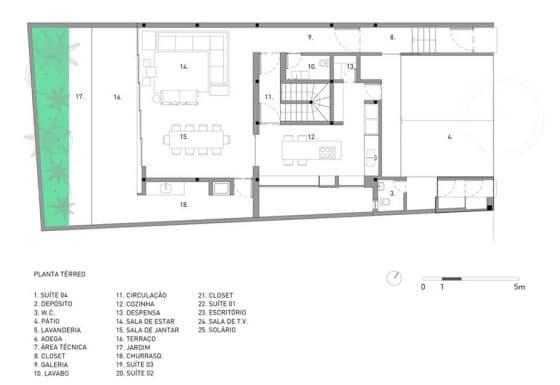 Plano casa de dos plantas
