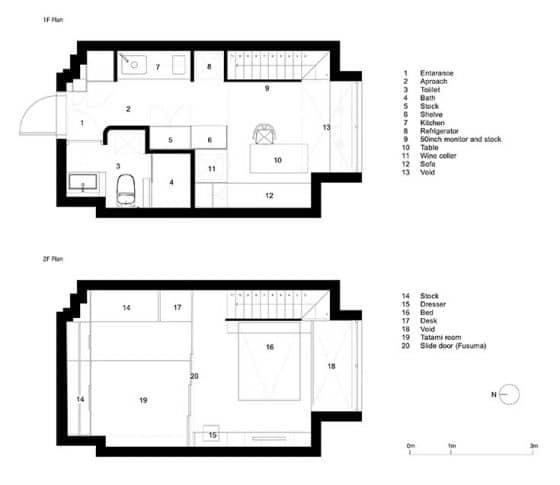 Planos de apartamento dúplex