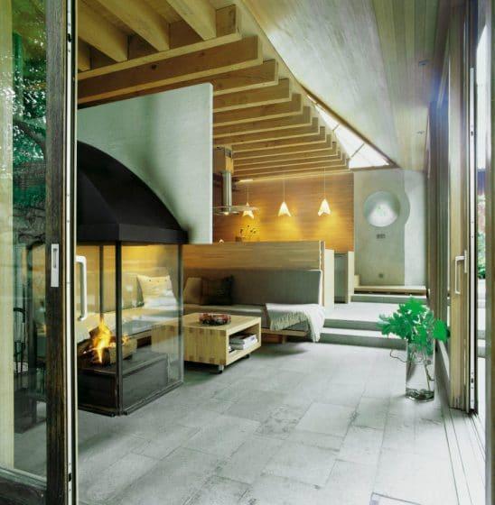 Diseño interior de cabaña