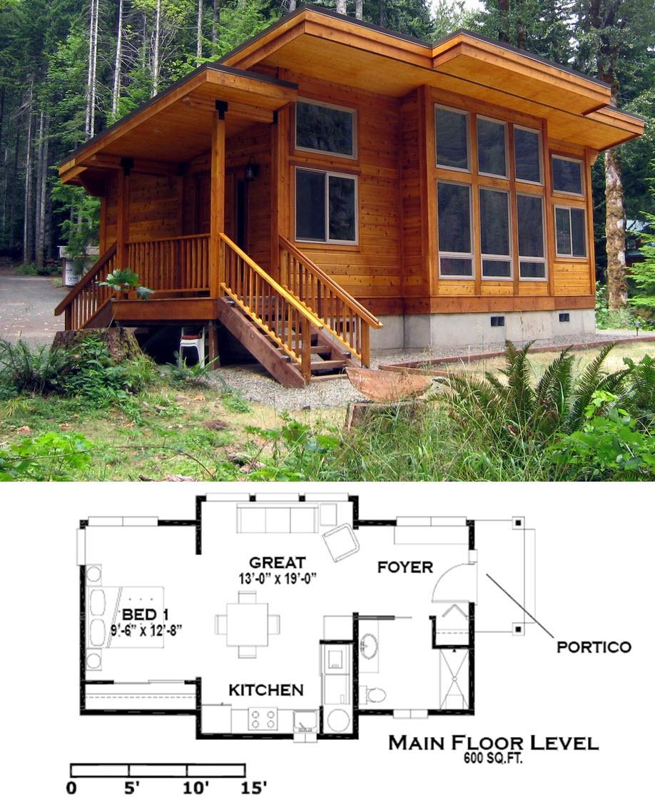 Casa de campo moderna madera