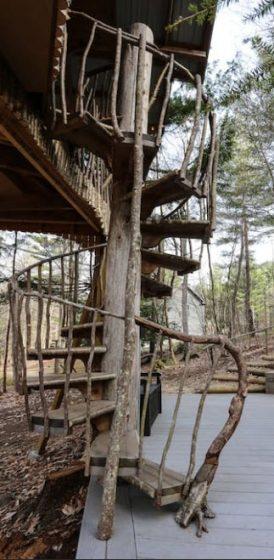 Rustik merdivenler