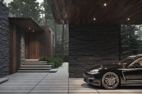 Garaje techado