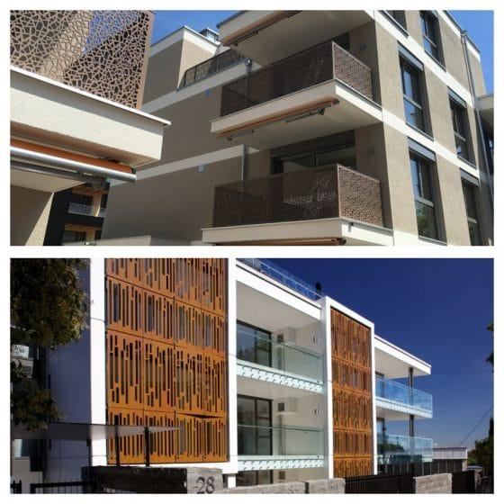 Diseño de balcones cortados láser