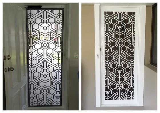 Modelo puerta con reja