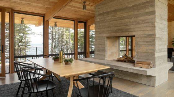 Diseño sala comedor pino