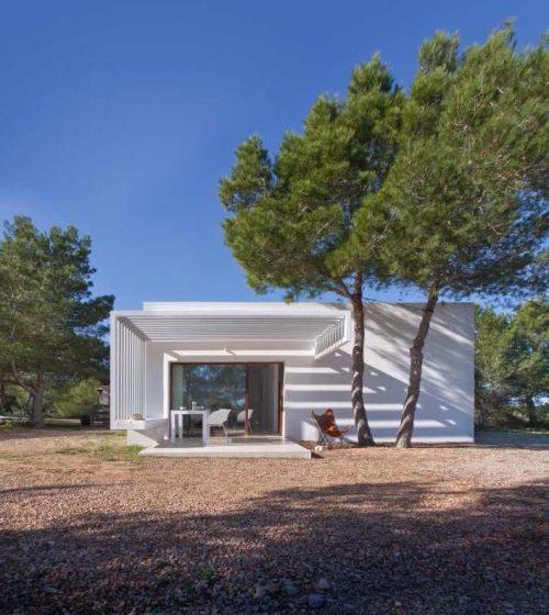 Casa de campo estilo minimalista