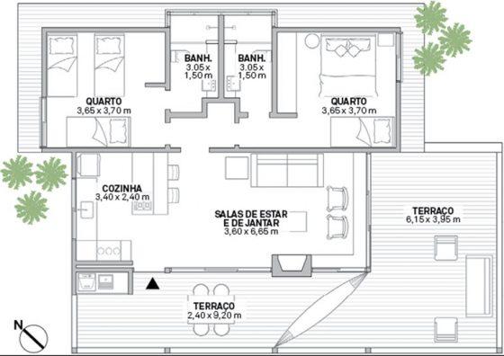 Plano casa en pendiente