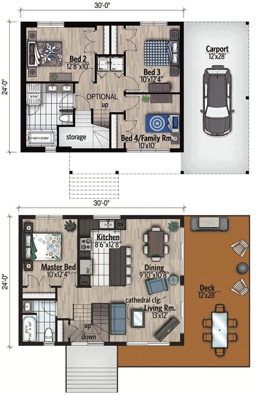 Plano casa de campo moderna
