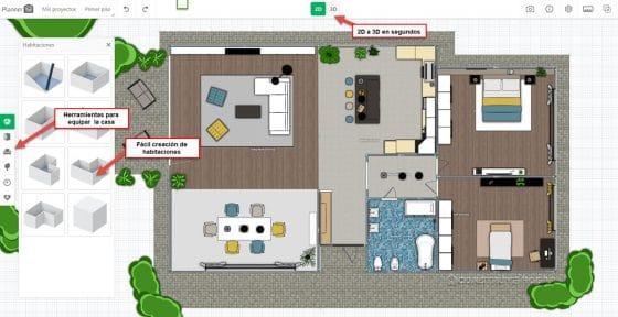 Planner 5D aplicación para hacer planos de casas y diseño de interiores