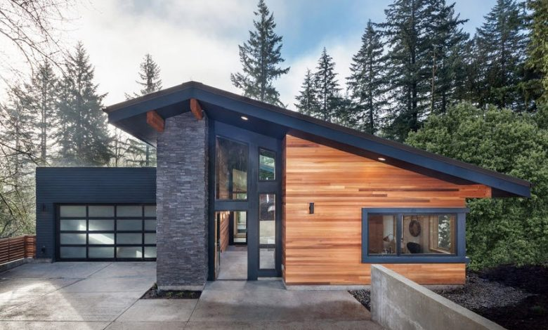 Photo of Modelos de casas modernas construidas con madera y piedra